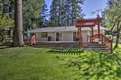 This home offers a perfect lake getaway on a quiet half-acre property.