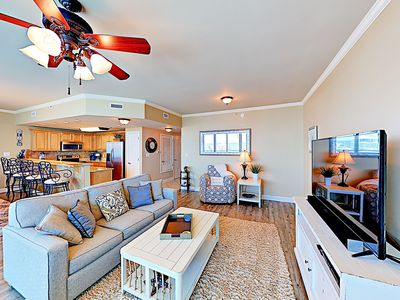 Living Area - The open floor plan is perfect for entertaining.
