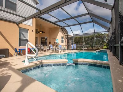 Photo for LUXURY 6 bm VILLA. VERY SUNNY  pool ,spa WOW kids rooms  games rm Disney 3 mile