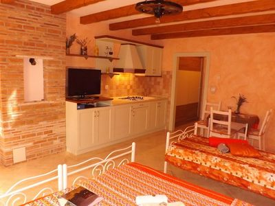 Photo for Studio apartment in the center of Umag with Parking, Garden (576377)