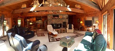 Great room main level Chalet.