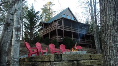 Photo for Hilltop Hideaway, Escape it All, WIFI, Dog Friendly, Outdoor Firepit, Gameroom.