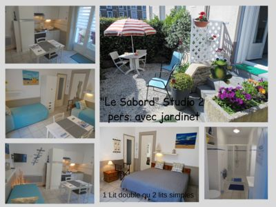 Photo for Studio with garden 2 pers. 30m from the sea Saint-Malo prox. intramural, Thalasso