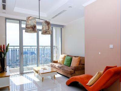 Photo for Taking Panoramic City View from the 2-Bedroom Apartment in Vinhomes Central Park