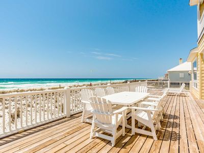 Photo for Gorgeous Beachfront Home ~ Beautiful Gulf Views ~ Large Private Deck and Grill!