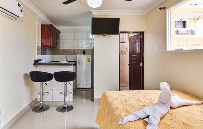 Air conditioned Fully furnished Studio, Full kitchen and terrace