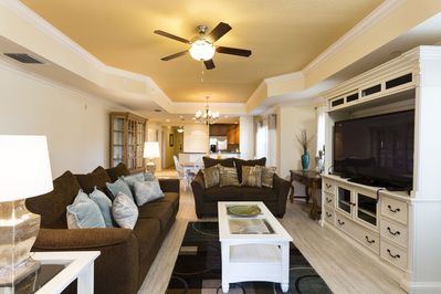 Enjoy time with your family in this plush living area watching your  favorite movie or show