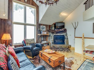 Photo for Charming chalet w/ private hot tub, gas fireplace and a true Ski-in/Ski-out!
