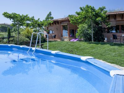 Photo for Charming country cottage in quiet village inland Costa Brava. Pool, barbecue