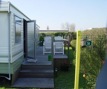 Photo for Spacious and friendly caravan in a quiet location close to the beach