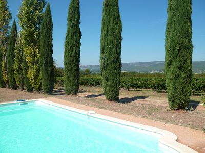 Photo for Gîte 'Luberon' surrounded by vineyards overlooking the mountains of Vaucluses