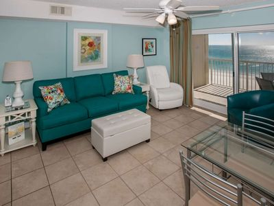 Photo for Gulf-front on 6th floor | In/Outdoor pools, Hot tub, Sauna, Steam Room, BBQ | Free golf, fishing