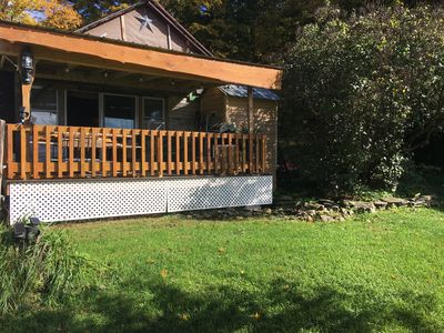 Your 12x16  New private deck,opposite the bed, right out the sliding glass doors