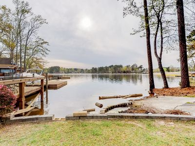 Photo for Dog-friendly waterfront home w/ a large patio and a gas grill
