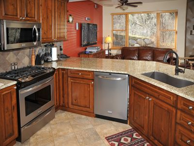 Photo for Roomy Avon Condo w/ River and Mountain Views, Free Town Shuttle Access to Slopes