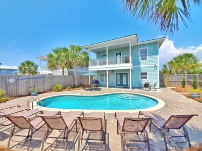 Photo for New! 7B/6B. Free Golf Cart! Private Heated pool! Very Close to the beach!