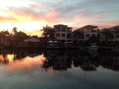 Photo for Las Olas 2-bedroom condo overlooking canal in sunny, tropical Ft Lauderdale