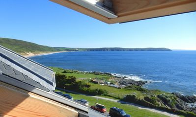 Photo for Woolacombe Beach Apartment - Stunning sea views - Pet-friendly