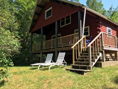 Photo for Year Round,  Lake Front Log Cabin- Pet Friendly Canoe/Kayak Available