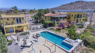 View of the Casitas and pool