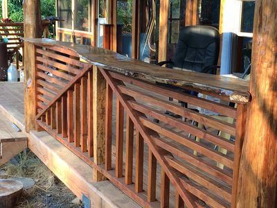 The owner builder has a passion for detail and woodwork