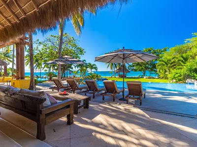Photo for Fully Staffed Beachfront Ultra Luxurious Villa by Coldwell Banker Global Luxury!