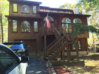 Photo for 4BR/4BA Lakefront House with Hot SAUNA & Wood burning Fireplace!