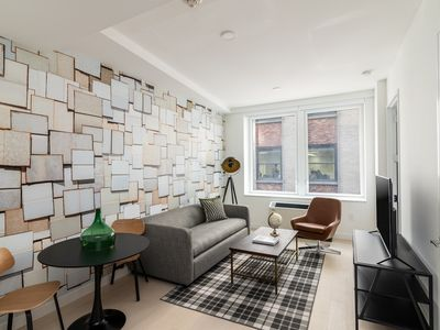 Photo for Sonder | Wall Street | Polished 1BR + Sofa Bed