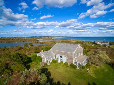 Photo for 1830 Dutch Barn House plus Addition on Hill Over Pond and Ocean