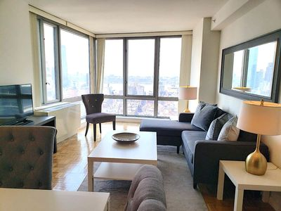 Photo for Midtown West Luxury Furnished 1 Bedroom in Doorman Building