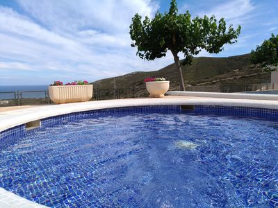 Photo for Modern and well-kept holiday home with a spectacular view of the sea and mountains
