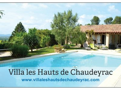 Photo for Villa 8 to 10 people with private heated pool in the Gard