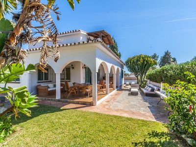 Photo for Beachside villa for rent in Costabella, Marbella