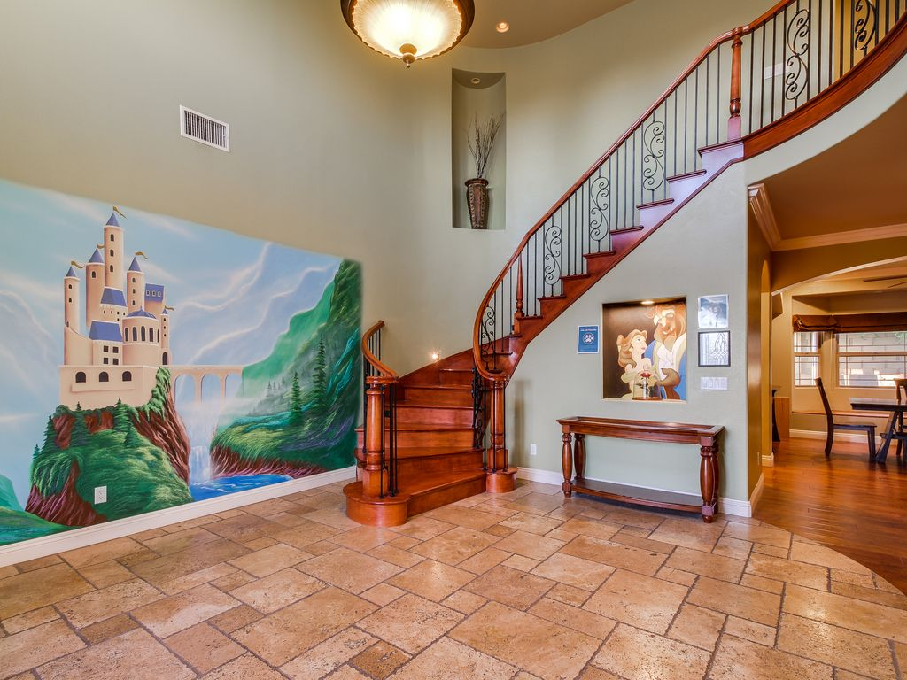 Funtierland belles castle close to disney pool playground netflix southwest anaheim