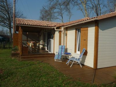 Photo for AZUR Chalet T3 res. with pool 10 minutes from the ocean