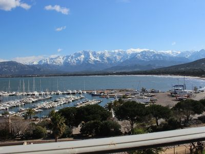 Photo for Fantastic view from luxurious apartment Calvi Corsika