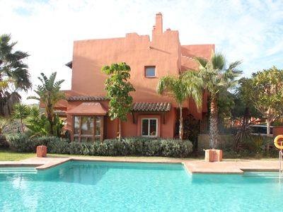 Photo for Moroccan villa w/ sea view, sleeps 5, 230 m2, Marbella, Estepona & Sotogrande