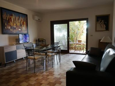 Photo for Spacious Polpo apartment in Alghero with WiFi, air conditioning, shared garden & balcony.