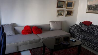 Photo for One bedroom new apartment with large living room. athens