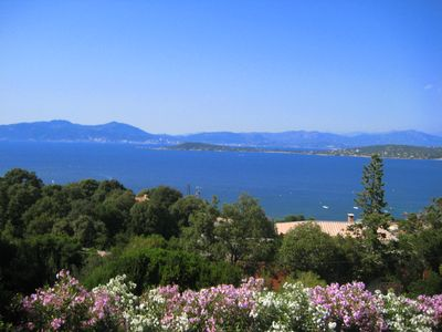 Photo for Magnificent villa with panoramic views of the sea and the bay of Ajaccio