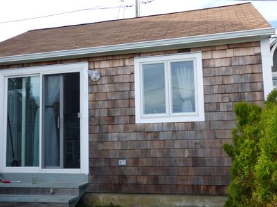 Photo for Breakwater Village Cottage with Private Beach with Water Views!