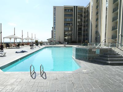 Photo for Oceanfront on Wildwood Boardwalk, Heated pool, Kid Pool, Hot Tub, Fitness, Grill