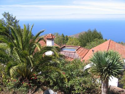 Photo for Canarian luxury holiday house with subtropical garden, swimming pool and jacuzzi