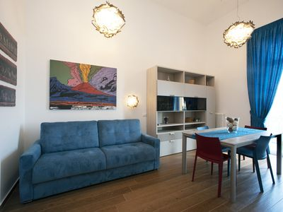 Photo for Apartment in the green, in Naples, overlooking the Vesuvius