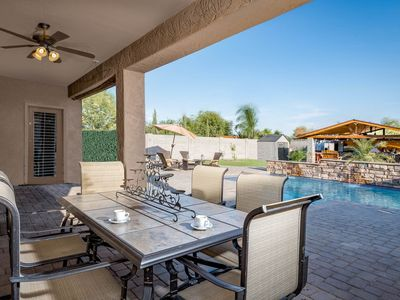 Photo for NEW LISTING! Gorgeous, dog-friendly home w/ramada, private pool & putting green