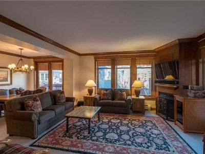 Photo for Luxurious condo next to the lifts, 2 master bedrooms, free wifi, & parking.