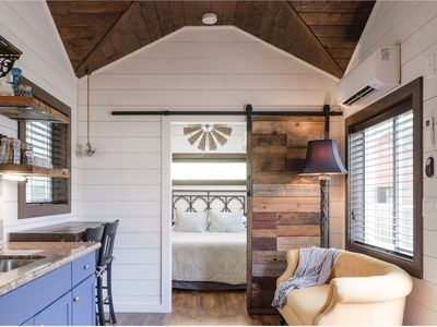 Photo for Brand new, rustic tiny house (with AC) Alberta Arts District , Portland Oregon