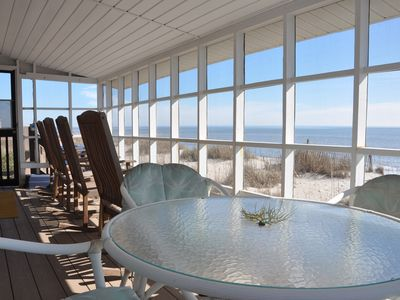 Photo for Oceanfront - True Edisto Beach Cottage - Porch on the Ocean