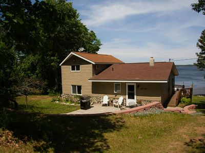 Photo for Beautiful Lake Independance Cabin - Private with Large Living Space