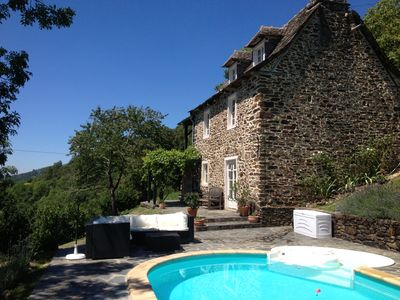 Photo for Charming Cottage in unspoilt area of SW France, Lot Valley Views, Private Pool